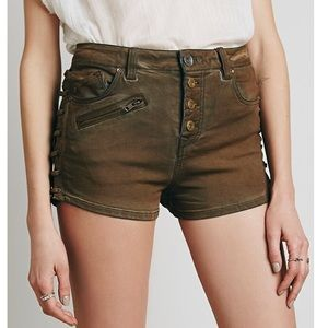 Free People Old West Lone Ranger Button Fly Shorts